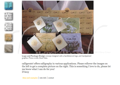 Calligrapher D'Arcy Grenz's Website