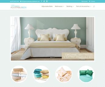 Adjustable Bed Ecommerce Website